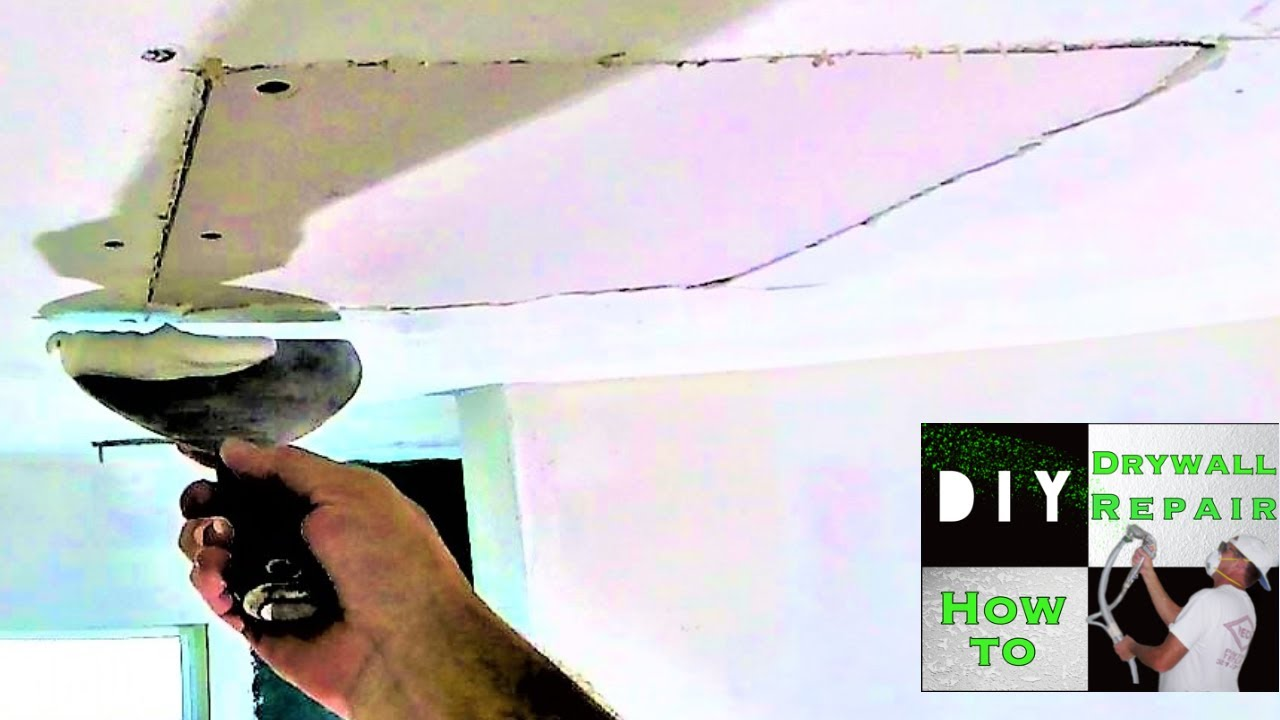How To Repair A Drywall Ceiling Hole Fast And Easy