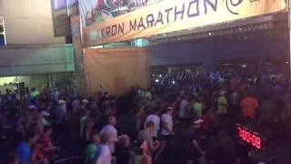 Akron Marathon | Runners up at the crack of dawn to complete the Rubber City Race Series