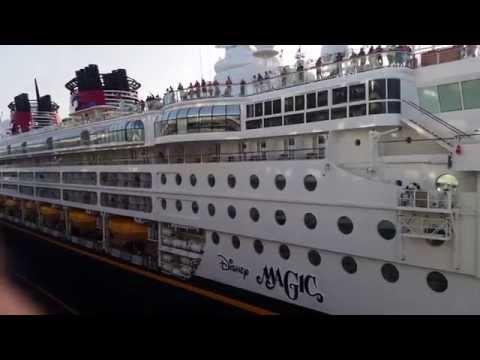 Cruise Ship Horn Battle Disney Magic Vs. Carnival Valor