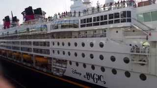 Cruise Ship Horn Battle Disney Magic Vs. Carnival Valor