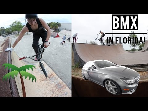 RIDING BMX AT MERRITT ISLAND SKATEPARK!