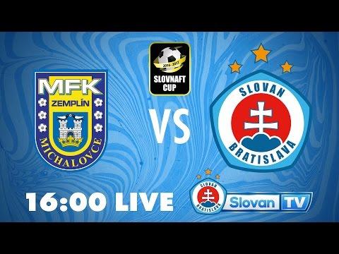 LIVE: MFK Michalovce - ŠK Slovan Bratislava semifinále Slovnaft Cupu