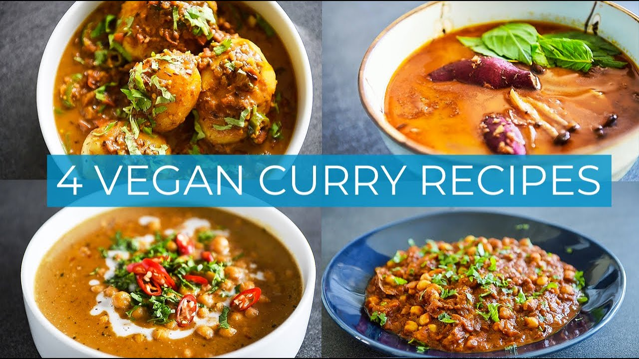 4 VEGAN CURRY RECIPES | HOW TO MAKE CURRY AT HOME EASY!