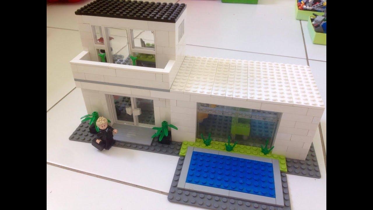 Como construir uma casa moderna de lego 1 youtube for Casa moderna lego