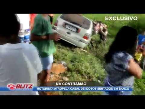 IDOSOSO SÃO ATROPELADOS NA LAGOA DAS BATEIAS | MOTORISTA ESTAVA NA CONTRAMÃO