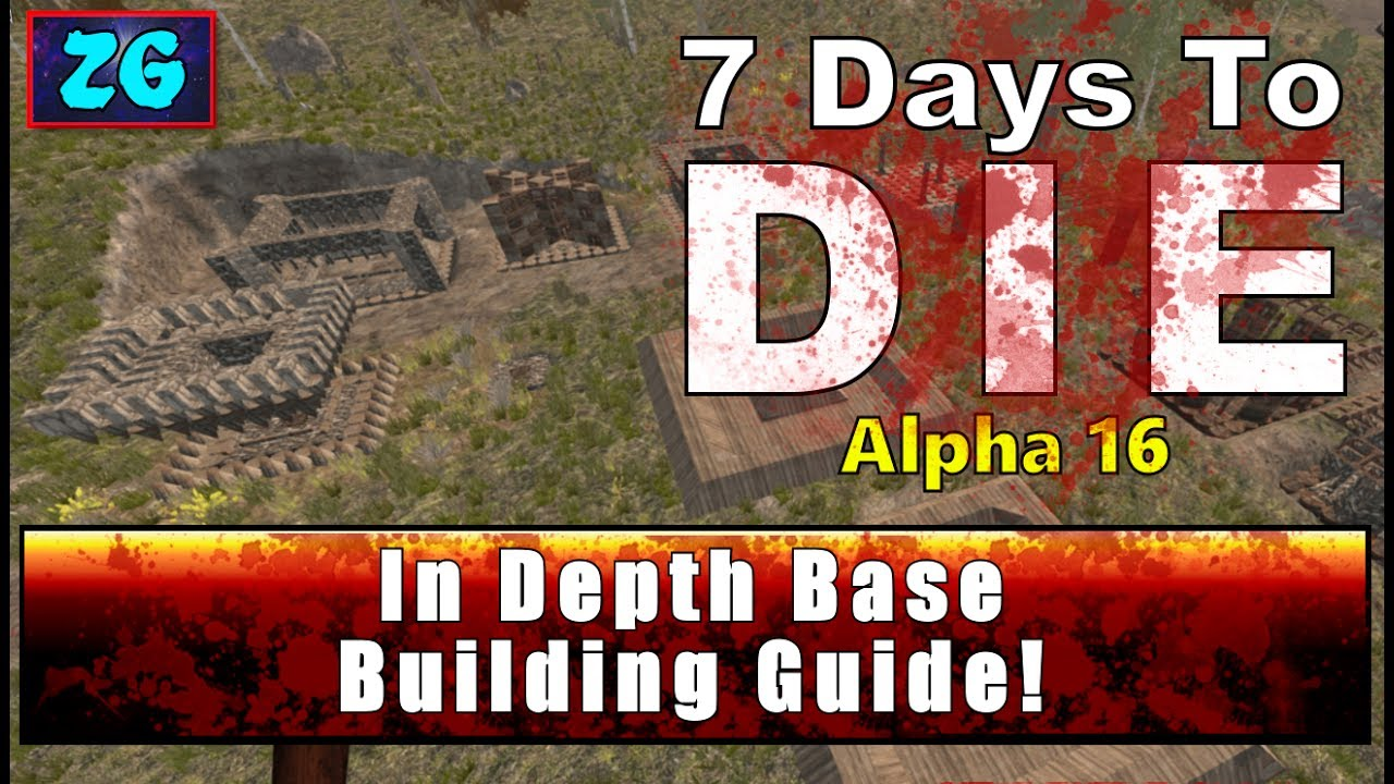 Complete Best Base Defenses 7 Days To Die Alpha 16 Youtube