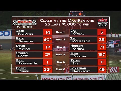 Magnolia Motor Speedway Lucas Oil Late Model Dirt Series Feature May 30, 2019