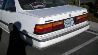 1988 Honda Accord cold start and drive