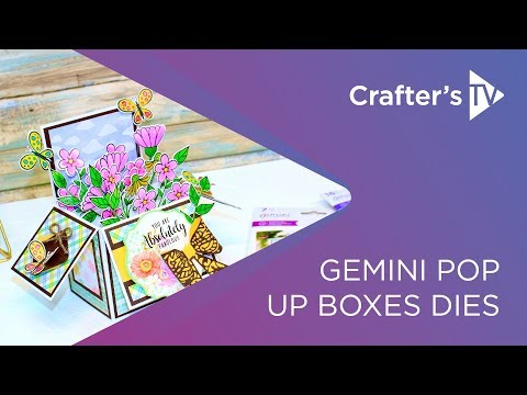 Gemini Floral Boutique Pop Up Box Stamp and Die card