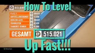 Forza Horizon 3 | How To Level Up Fast | 500'000 XP per Hour
