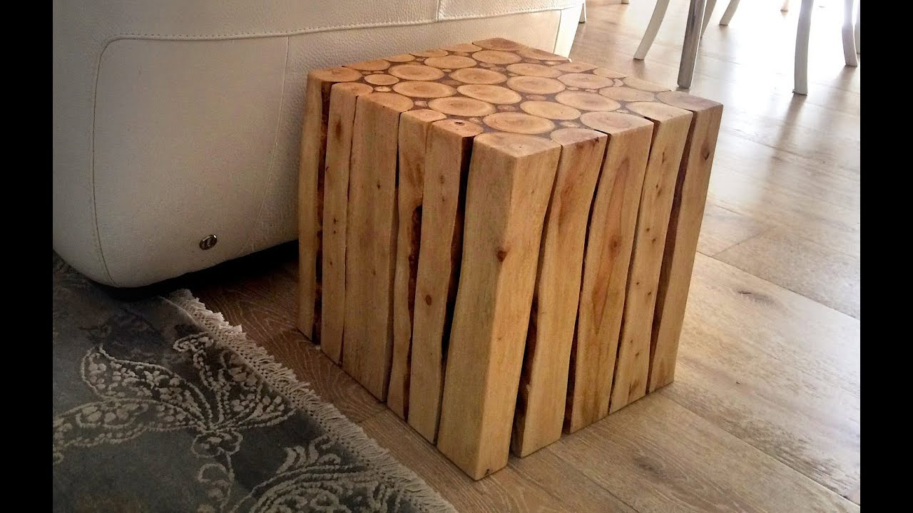 Wood Project: How To Make A Stylish Wooden Side Table PART 1 - YouTube