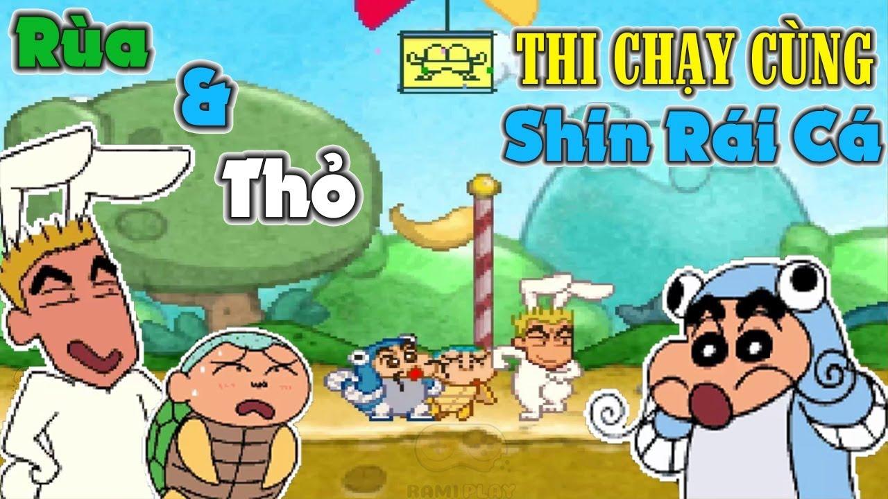 Chạy thi với Shin Chan Rái cá – Shin Chan game #124