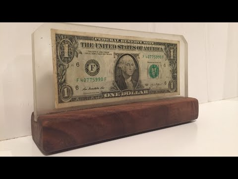 Casting MONEY in RESIN! So Cool!