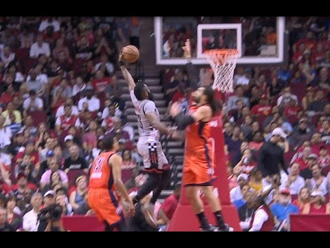 James Harden Drives and Dunks Over the Thunder! | March 26, 2017