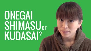 Ask a Japanese Teacher! ONEGAI SHIMASU or KUDASAI?