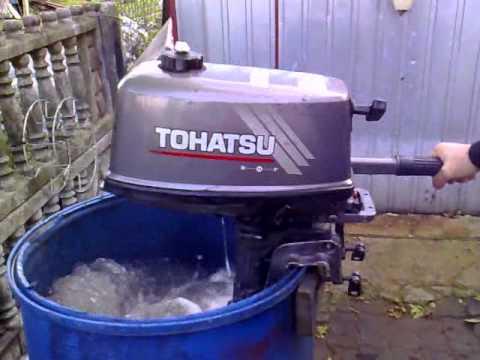 Tohatsu 4 Hp Outboard Motor 2005r 2 Stroke Dwusuw Youtube