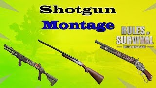 Shotgun Montage Highlights #1// (Rules of Survival : Battle Royale Game) // Eradicator