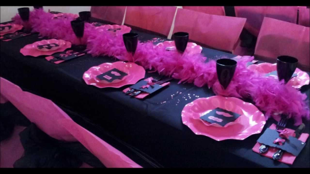Bien-aimé Décoration de salle thème sexy chic par les Tables d'Okiss - YouTube HV12