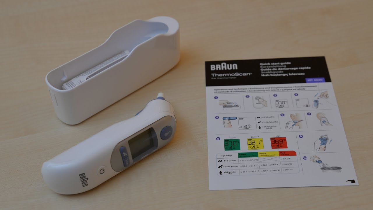 Braun irt6520 thermo scan 7 infrarot ohrthermometer unboxing review youtube for Thermo scanner watch
