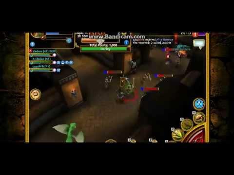 Arcane Legends Running Kraken Mines Level 3 With Vladxxx