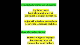 ramkrishna das sings khayaals-raag sindhuraa-aaj lalan tumse horii kheluungii, sunat sab logavaa