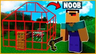 NOOB VS CASA 100% INVISIBLE - MINECRAFT (Minecraft Troll)