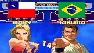 Kof 2000 - DjP4nzhO (chile) VS GABRIEL (brazil) Fightcade
