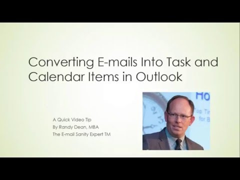 Converting Emails into Task & Calendar Items in Outlook