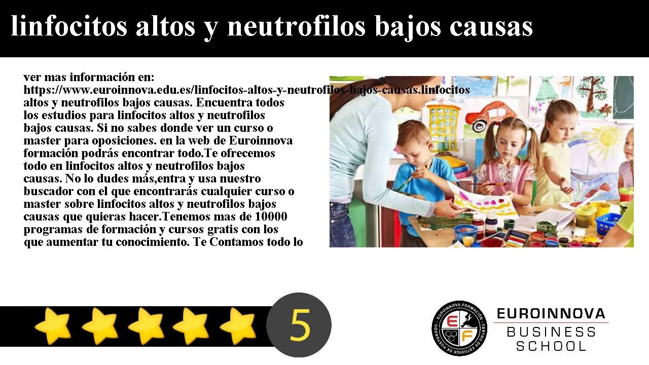 linfocitos altos neutrofilos bajos
