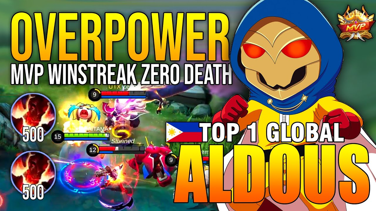 OVERPOWER SAITAMA TOP 1 ALDOUS FULL STACK - TOP 1 GLOBAL ALDOUS ●SAITAMA● - MOBILE LEGENDS