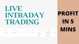 NSE Live Intraday Trading - Profit In 5 Mins