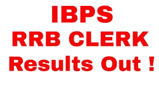 IBPS RRB Clerk Prelims Result Released | IBPS RRB Office Assistant Prelims Result Out |