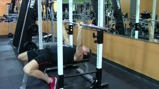 Barbell Bench Press - Hasfit Chest Exercise Demonstration - Flat Bench Presses Form - Pectoral