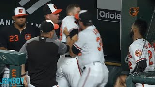 Chris Davis and Brandon Hyde go at each other in the dugout, a breakdown