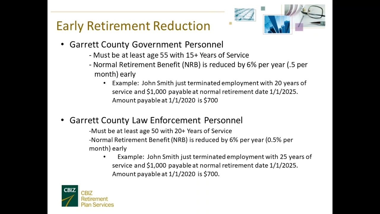 2019 Retirement Seminar - Human Resources - Garrett County