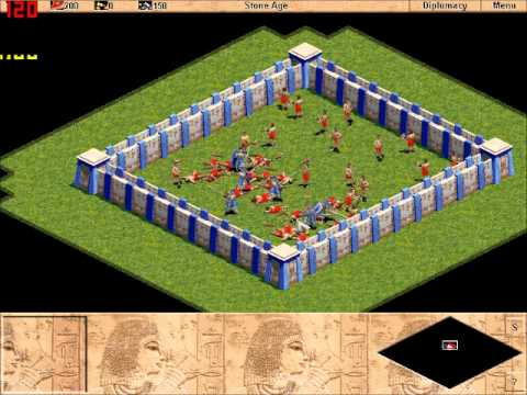 Age of empires: 6 Centurians VS 40 Clubmen