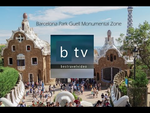 Barcelona Park Guell by architect Antoni Gaudi Monumental Zone