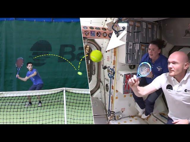 Играю в БОЛЬШОЙ ТЕННИС с космонавтами МКС