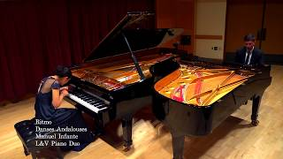 Ritmo from Danses Andalouses by Manuel Infante. Performed by L&V Piano Duo