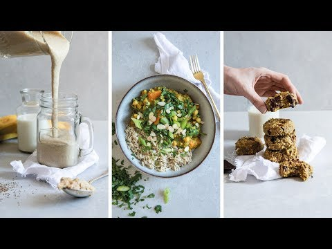 HIGH PROTEIN VEGAN MEALS | 4 RECIPES = 272g