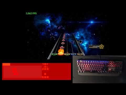 Clone Hero - RGB Keyboard Lighting via Aurora (Demonstration)