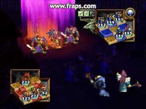 Ogre Battle 64 - Lich & Siren combo attack INFERNO