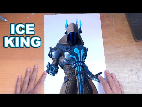 FORTNITE Drawing THE ICE KING - How to Draw ICE KING | Step-by-Step Tutorial - Fortnite Season 7