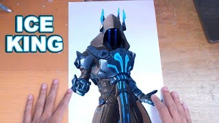 FORTNITE Drawing THE IĊE KING - How to Draw ICE KING | Step-by-Step Tutorial - Fortnite Season 7