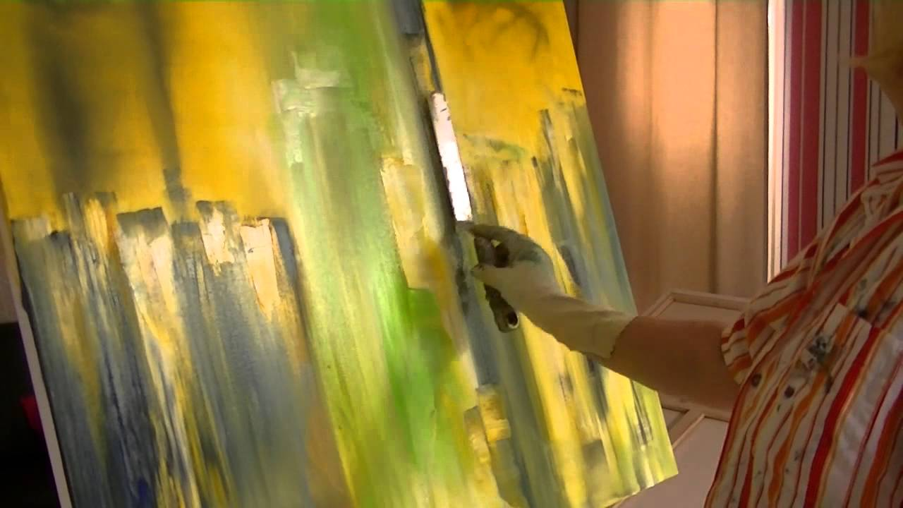 Floral Painting With Acrylic Colors Demo Blumen Malen In Acryl