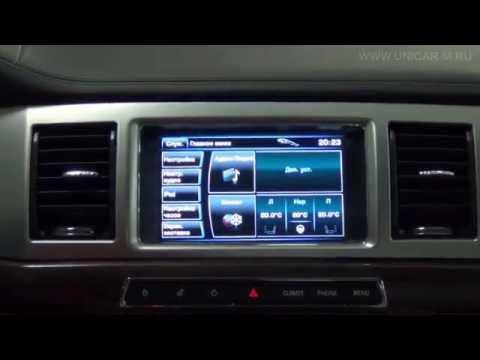 Навигационный бокс Android WP9320 на штатном мониторе Jaguar XF