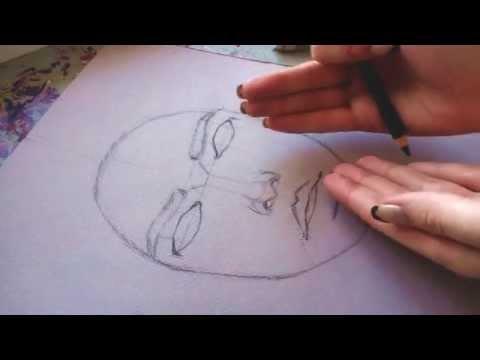 Туториал по рисунку/ скетч/ как нарисовать портрет карандашом| how to draw a portrait