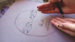 Туториал по рисунку/ скетч/ как нарисовать портрет карандашом| how to draw a portrait(Всем привет! В этом видео я рассказываю и показываю насколько можно подробно о том, как нарисовать портрет..., 2015-02-21T10:04:57.000Z)