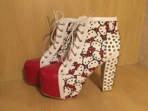 DIY - Jeffrey Campbell/Hello Kitty Inspired