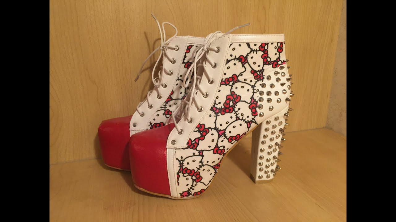 Diy Jeffrey Campbell Hello Kitty Inspired Quot Litas Quot Youtube